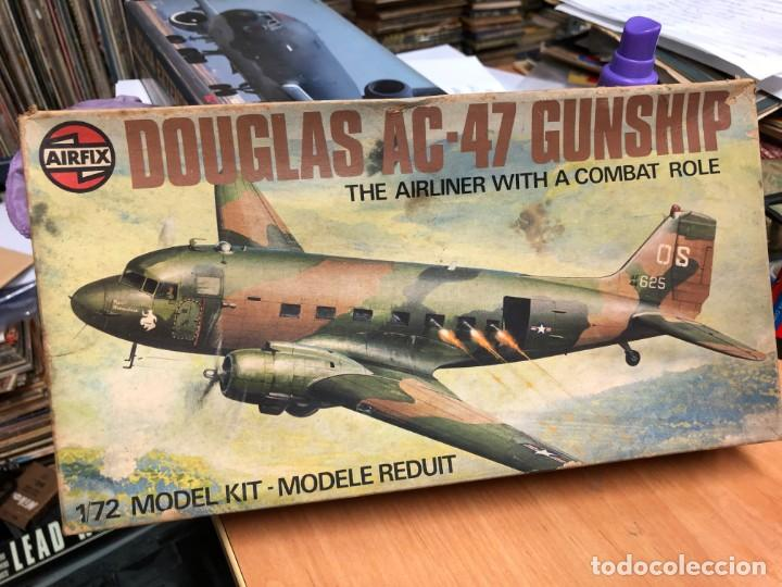 MAQUETA SIN MOTAR CON INSTRUCCIONES Y PEGATINAS AVION DOUGLAS AC-47 ESCALA 1/72 FABRICADO POR AIRFIX (Juguetes - Modelismo y Radiocontrol - Radiocontrol - Aviones y Helicópteros)