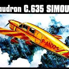 Radio Control: CAUDRON C.635 SIMOUN (AVIACIÓN ESPAÑOLA) 1/72 HELLER. Lote 172999709