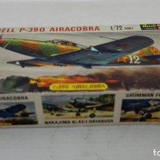Radio Control: CAJA DE CARTON VACIA, AVION BELL P-39 Q AIRACOBRA, ESCALA 1/72. Lote 173541875