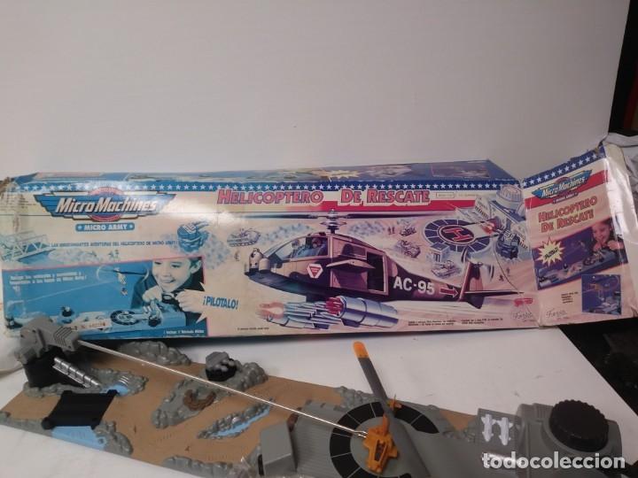 Radio Control: Helicoptero de rescate micromachines micro machines tipo sos helicopter o rescate espacial - Foto 4 - 174221579