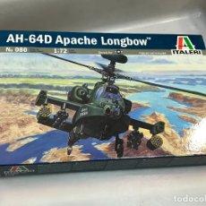 Radio Control: MAQUETA HELICÓPTERO AH-60 D, LONG BOW APACHE, REF. 87219, 1/72, HOBBY BOSS. Lote 174417419