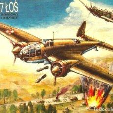 Radio Control: MAQUETA DE AVIÓN MILITAR - AVIACION POLACA BOMBARDERO WWII PZL-37 LOS - 1/72 HECHO EN POLONIA. Lote 218584570