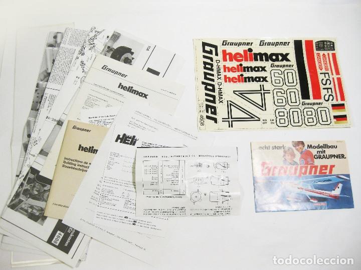 Radio Control: HELICÓPTERO DE RADICONTROL O TELEDIRIGIDO MARCA GRAUPNER - HELIMAX 60/80 - Foto 20 - 177088102