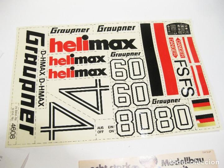 Radio Control: HELICÓPTERO DE RADICONTROL O TELEDIRIGIDO MARCA GRAUPNER - HELIMAX 60/80 - Foto 21 - 177088102