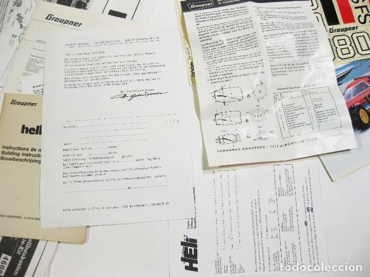 Radio Control: HELICÓPTERO DE RADICONTROL O TELEDIRIGIDO MARCA GRAUPNER - HELIMAX 60/80 - Foto 24 - 177088102