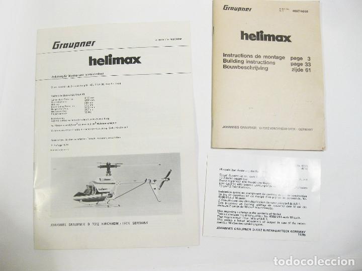 Radio Control: HELICÓPTERO DE RADICONTROL O TELEDIRIGIDO MARCA GRAUPNER - HELIMAX 60/80 - Foto 25 - 177088102