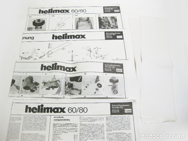 Radio Control: HELICÓPTERO DE RADICONTROL O TELEDIRIGIDO MARCA GRAUPNER - HELIMAX 60/80 - Foto 26 - 177088102