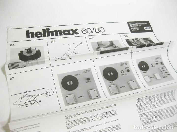 Radio Control: HELICÓPTERO DE RADICONTROL O TELEDIRIGIDO MARCA GRAUPNER - HELIMAX 60/80 - Foto 27 - 177088102