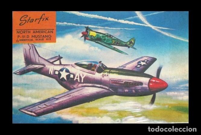 LOTE MAQUETA DE AVION MUY ANTIGUA STARFIX Nº 22 - P-51 D MUSTANG - SCL 1/72 - MADE IN ISRAEL (Juguetes - Modelismo y Radiocontrol - Radiocontrol - Aviones y Helicópteros)