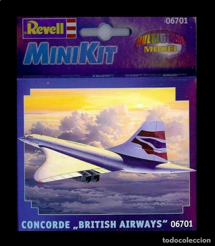 LOTE MAQUETA DE AVION - REVELL MINIKIT 06701 - CONCORDE DE BRITISH AIRWAYS - NUEVO EN CAJA (Juguetes - Modelismo y Radiocontrol - Radiocontrol - Aviones y Helicópteros)