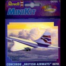 Radio Control: LOTE MAQUETA DE AVION - REVELL MINIKIT 06701 - CONCORDE DE BRITISH AIRWAYS - NUEVO EN CAJA. Lote 177275172
