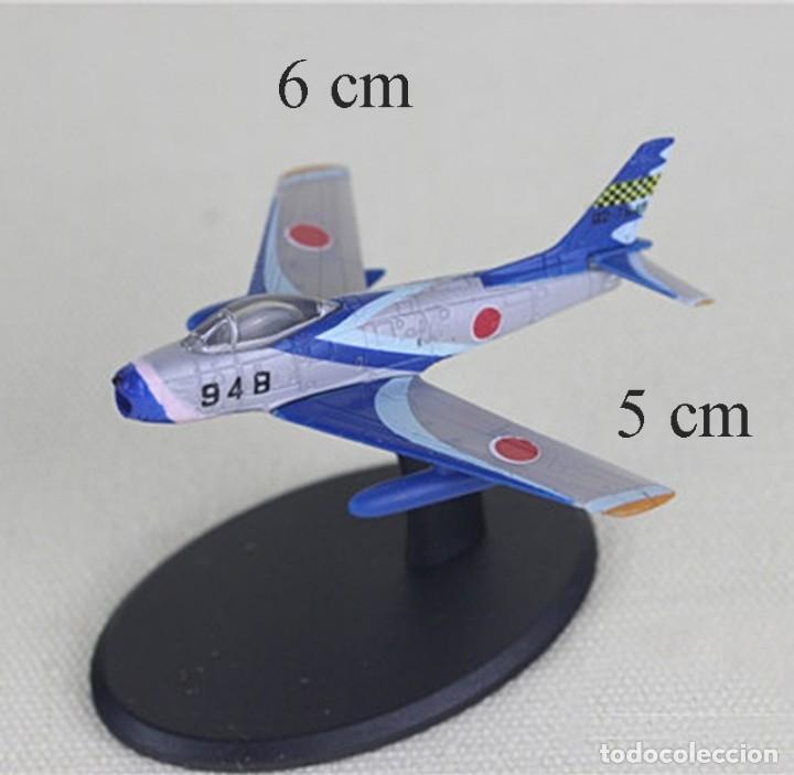 LOTE MAQUETA AVION - MITSUBISHI F-86 F - PATRULLA ACROBATICA JAPONESA BLUE IMPULSE - LONG. 6X5 CM (Juguetes - Modelismo y Radiocontrol - Radiocontrol - Aviones y Helicópteros)