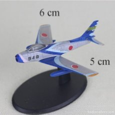 Radio Control: LOTE MAQUETA AVION - MITSUBISHI F-86 F - PATRULLA ACROBATICA JAPONESA BLUE IMPULSE - LONG. 6X5 CM. Lote 177381195
