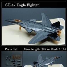Radio Control: LOTE MAQUETA NUEVA DE AVION - SUKHOI SU-47 BERKUT - SCL 1/165 - LONG. 10,5 CM. Lote 180242253