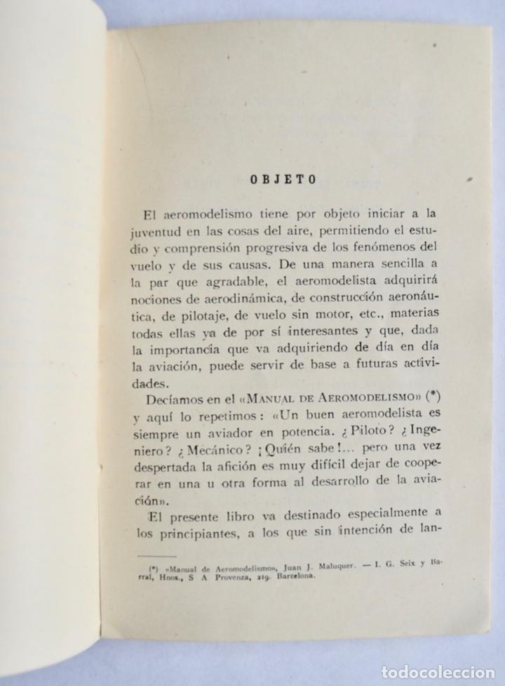 Radio Control: Construcción de Aeromodelos. Seix Barral Editores. Barcelona, 1943. Guía Aeromodelismo - Foto 3 - 182641523