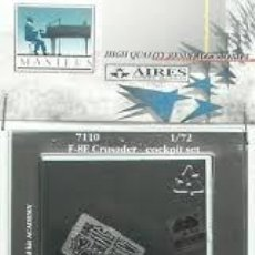 Radio Control: AIRES - F-8E CRUSADER COCKPIT SET 1/72 7110. Lote 189709050