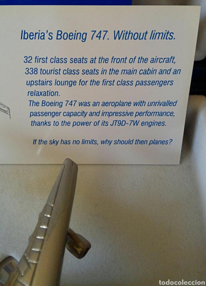 Radio Control: EDICION CONMEMORATIVA DE IBERIA BOEING 747 - A ESCALA Y EN ACERO - EDICION VIP - Foto 13 - 190935651