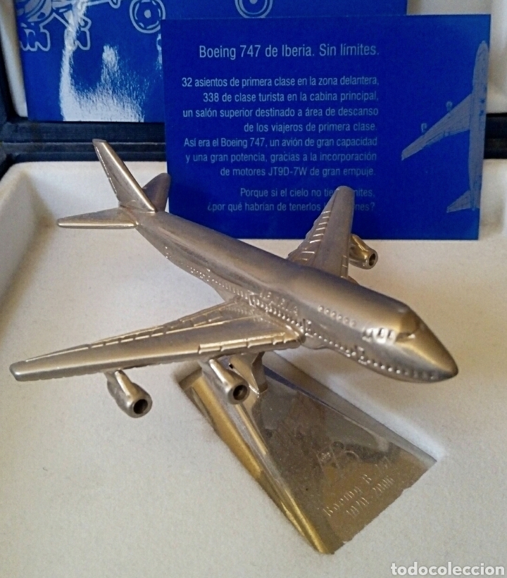 EDICION CONMEMORATIVA DE IBERIA BOEING 747 - A ESCALA Y EN ACERO - EDICION VIP (Juguetes - Modelismo y Radiocontrol - Radiocontrol - Aviones y Helicópteros)