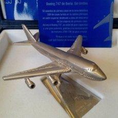 Radio Control: EDICION CONMEMORATIVA DE IBERIA BOEING 747 - A ESCALA Y EN ACERO - EDICION VIP. Lote 190935651