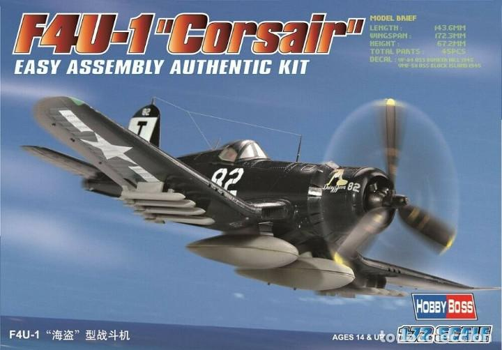 F4U-1 CORSAIR IT 80217 HOBBYBOSS 1/72 (Juguetes - Modelismo y Radiocontrol - Radiocontrol - Aviones y Helicópteros)
