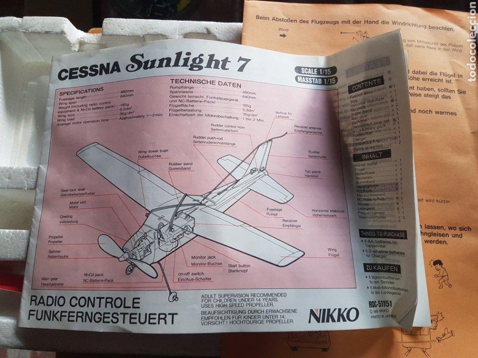 Radio Control: AVIONETA NIKKO ESCALA 1/15 MODELO CESSNA SUNLIGHT-7 REF 51151 - Foto 5 - 197850027