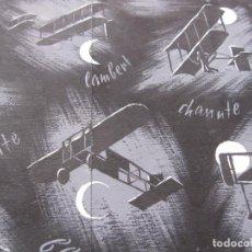 Radio Control: ORIGINAL EN TINTA Y GOUACHE. VUELO NOCTURNO. WRIGHT. CHANUTE. DUMONT. BLÉRIOT. Lote 199896261