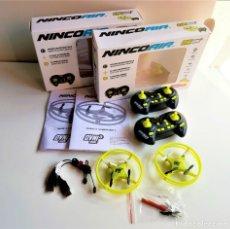 Radio Control: DOS OVNI DRONES PEQUEÑOS COMO NUEVOS EN SUS CAJAS. Lote 205449005
