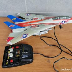 Radio Control: AVION DE CHASSE NEW BRIGHT F14 F-14 TOMCAT RC JET AIRPLANE FILOGUIDÉ 1990 NAVY. Lote 222441970