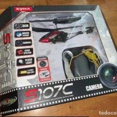 Radio Control: DRON: HELICÓPTERO SYMA S107C. CÁMERA, SISTEMA DE GIRO, USB, MANDO, ETC. EN SU CAJA ORIGINAL.. Lote 224921115