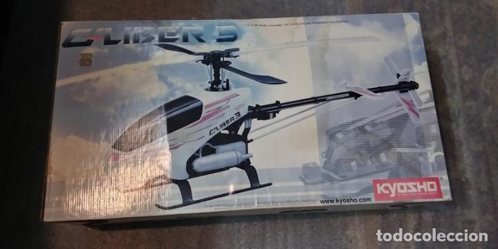 HELICOPTERO RADIO CONTROL. KYOSHO CALIBER 3 (Juguetes - Modelismo y Radiocontrol - Radiocontrol - Aviones y Helicópteros)