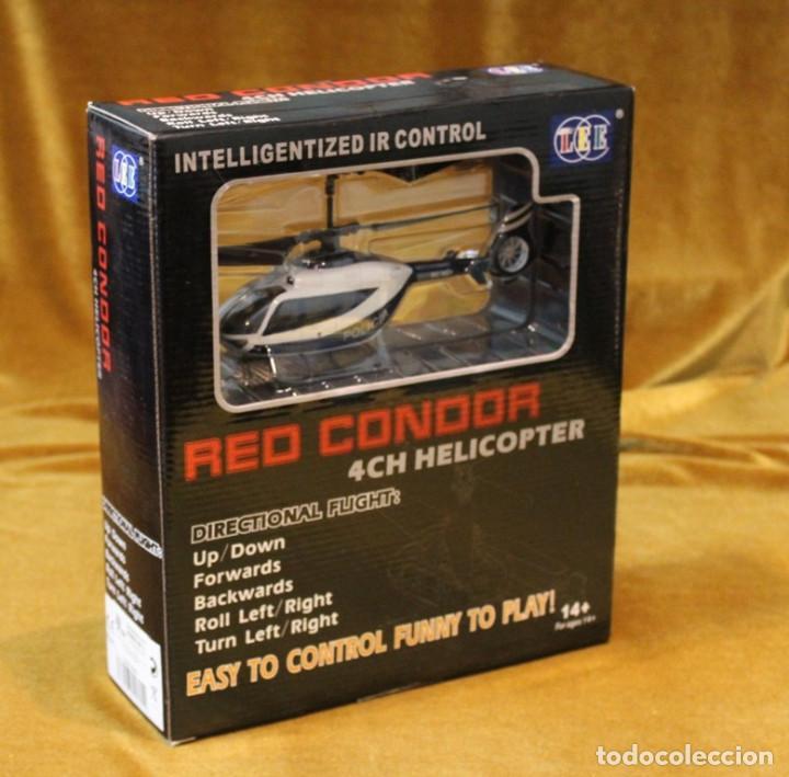 HELICOPTERO DE LA POLICIA RED CONDOR,$CH HELICOPTER. VUELO DIRIGIDO.EN ESTUCHE ORIGINAL. (Juguetes - Modelismo y Radiocontrol - Radiocontrol - Aviones y Helicópteros)