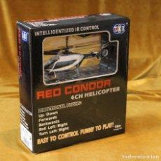 Radio Control: HELICOPTERO DE LA POLICIA RED CONDOR,$CH HELICOPTER. VUELO DIRIGIDO.EN ESTUCHE ORIGINAL.. Lote 242015355