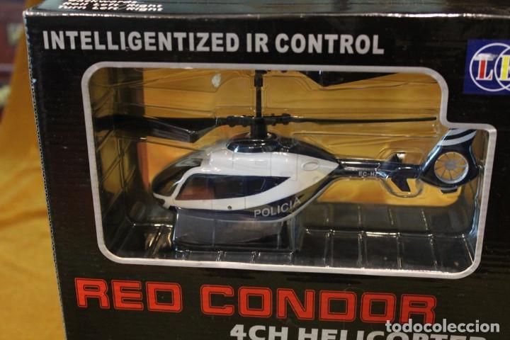Radio Control: Helicoptero de la policia Red Condor,$CH Helicopter. Vuelo dirigido.En estuche original. - Foto 2 - 242015355