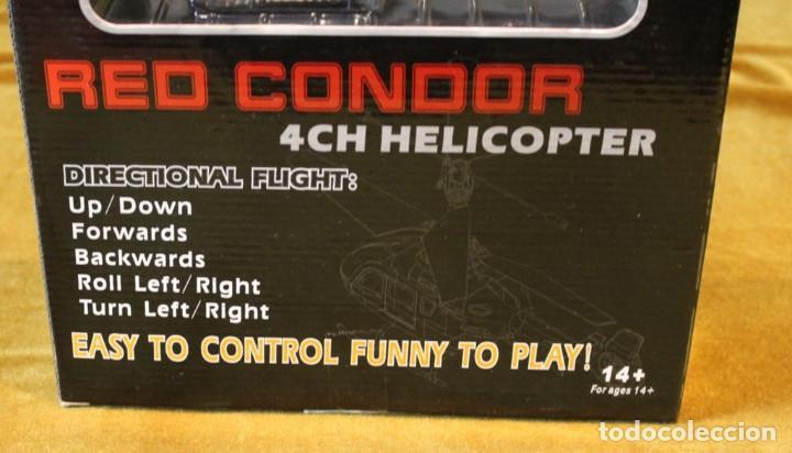 Radio Control: Helicoptero de la policia Red Condor,$CH Helicopter. Vuelo dirigido.En estuche original. - Foto 3 - 242015355