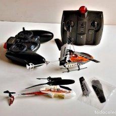 Radio Control: DOS HELICOPTEROS 17 Y 22.CM LARGO RADIO CONTROL CON MANDOS GRANDES - (NO PROBADOS). Lote 246307385