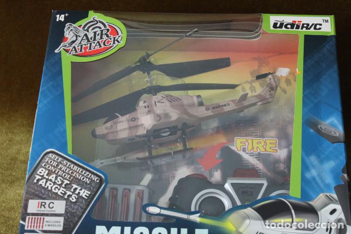 Radio Control: Missile launching helicopter, air attack de UDI R/C, En estuche completo. - Foto 2 - 285315928