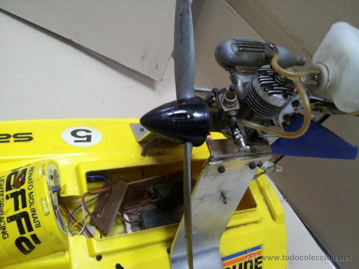 Radio Control: lancha catamaran barco modelismo rc años 70-80 con motor thunder tiger 20 model 7701 - Foto 10 - 51362926