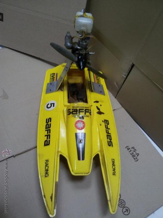 Radio Control: lancha catamaran barco modelismo rc años 70-80 con motor thunder tiger 20 model 7701 - Foto 23 - 51362926