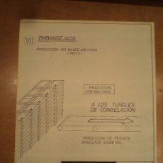 Radio Control: UN PLANO DESPLEGABLE EN 7 CUERPOS DE BUQUES FACTORÍA KABOUTY Y BALTIM ESQUEMA.... Lote 104460047