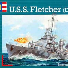 Radio Control: MAQUETA DEL DESTRUCTOR NORTEAMERICANO USS FLETCHER (DD-445) DE REVELL A 1/700. Lote 115647755