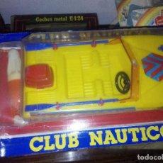 Radio Control: BLISTER LANCHA MOTORA CLUB NAUTICO MOTOR A PILAS NUEVO AÑOS 80. Lote 118309515