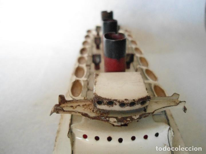 Radio Control: ANTIGUO BUQUE TITANIC DE PASTA Y HOJALATA. - Foto 4 - 125033271