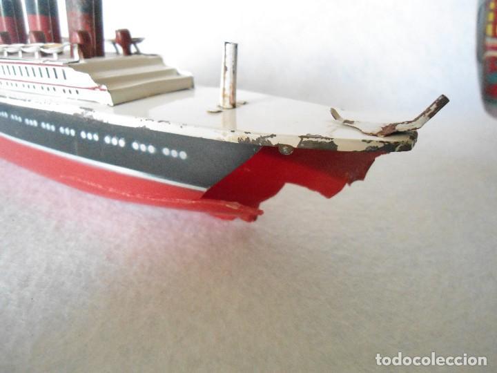 Radio Control: ANTIGUO BUQUE TITANIC DE PASTA Y HOJALATA. - Foto 5 - 125033271