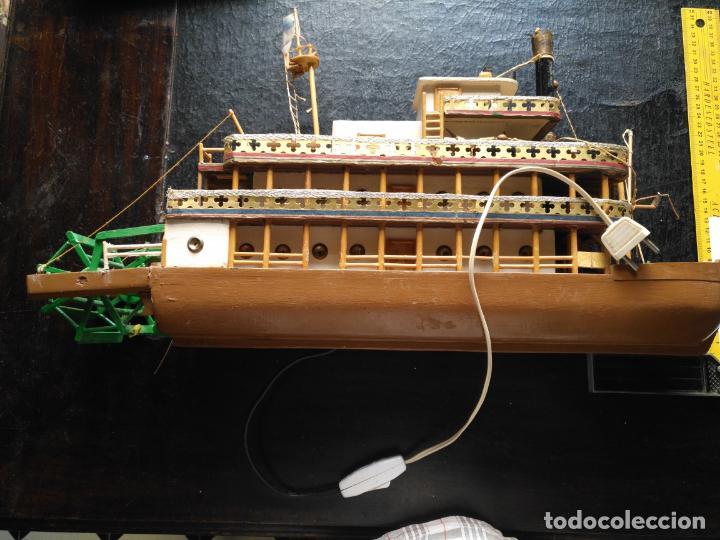 Radio Control: 2 grandes maquetas barcos con luz de vapor mississippi misisipi . a restaurar , HAGA OFERTA - Foto 2 - 132073842