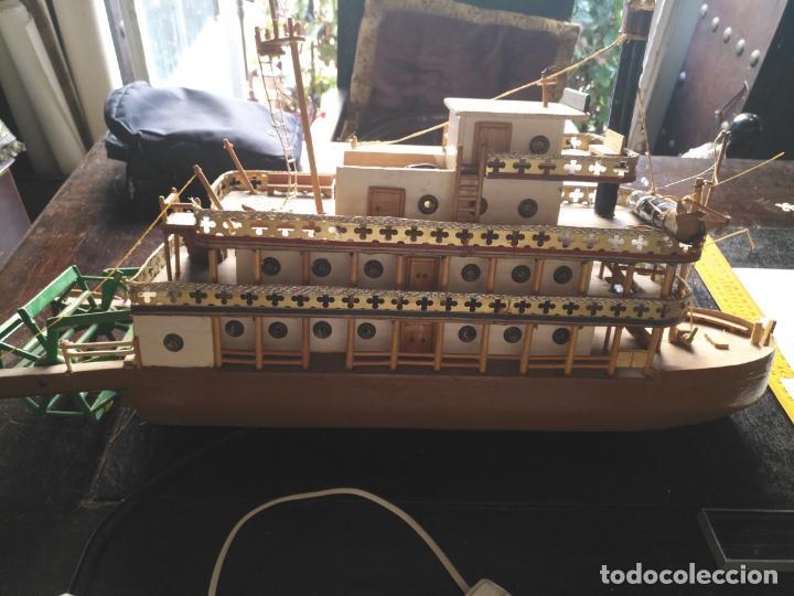Radio Control: 2 grandes maquetas barcos con luz de vapor mississippi misisipi . a restaurar , HAGA OFERTA - Foto 3 - 132073842