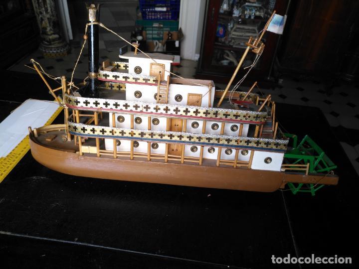 Radio Control: 2 grandes maquetas barcos con luz de vapor mississippi misisipi . a restaurar , HAGA OFERTA - Foto 4 - 132073842