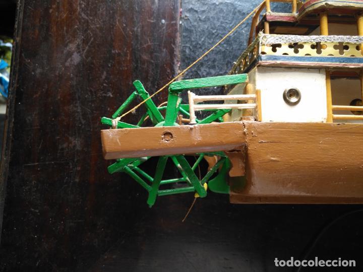 Radio Control: 2 grandes maquetas barcos con luz de vapor mississippi misisipi . a restaurar , HAGA OFERTA - Foto 6 - 132073842