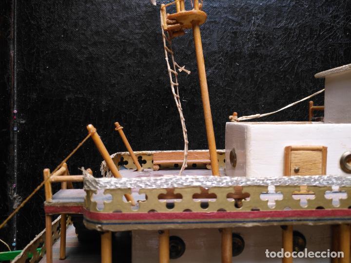 Radio Control: 2 grandes maquetas barcos con luz de vapor mississippi misisipi . a restaurar , HAGA OFERTA - Foto 7 - 132073842