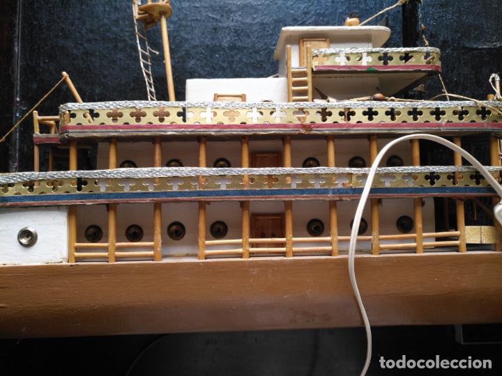 Radio Control: 2 grandes maquetas barcos con luz de vapor mississippi misisipi . a restaurar , HAGA OFERTA - Foto 10 - 132073842