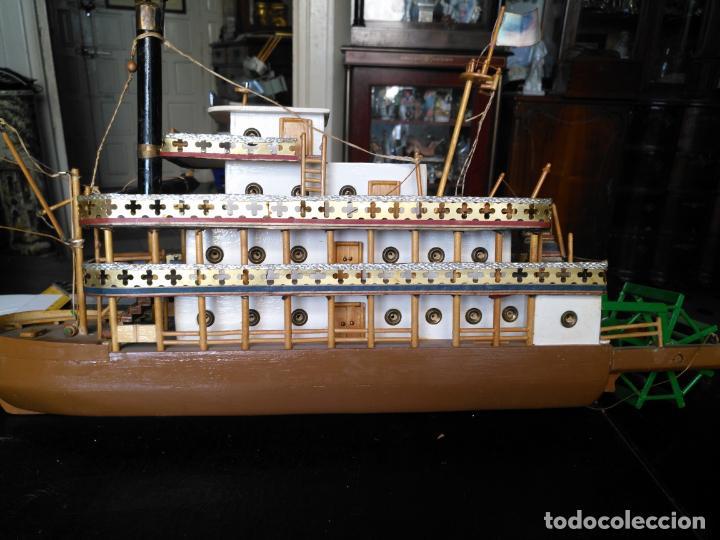 Radio Control: 2 grandes maquetas barcos con luz de vapor mississippi misisipi . a restaurar , HAGA OFERTA - Foto 15 - 132073842